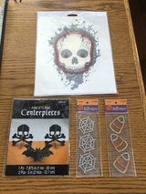 New Halloween Gemstones (2 packages), Pumpkin Transfer with Jewels & 3D Glitter Centerpieces in Glendale Heights, Illinois