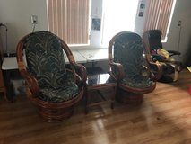 two Ratan chairs and table in Fort Leonard Wood, Missouri