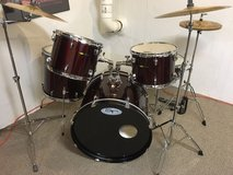 Sound Percussion 8-piece Drum Set / Wine Red in Naperville, Illinois