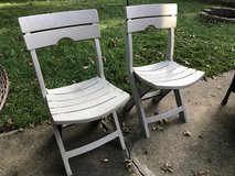 2 Outdoor, foldable patio chairs in Bolingbrook, Illinois