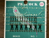Vintage Peacock Fabric Hooks in Chicago, Illinois