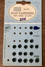 Vintage Black Fabric Snap Fasteners in Chicago, Illinois