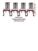 4 Chippendale Dining Chairs like new in Bartlett, Illinois