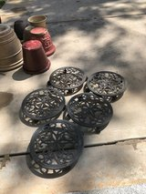 Cast Iron Plant Stands with Casters in Conroe, Texas