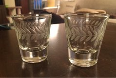 Etched Shot Glass Pair in Joliet, Illinois