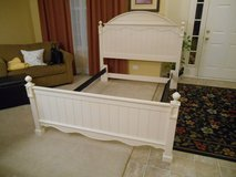 Queen or Full Girls White Headboard Footboard Bed in Naperville, Illinois