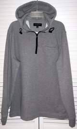 Banana Republic Moisture Wicking Quarter Zip Gray Pullover Hoodie ~Men's Sz: Lg in Westmont, Illinois