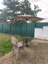 Patio Table, chairs and umbrella in Ramstein, Germany