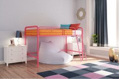 2 Jr Loft Beds (pink and navy) in Bolingbrook, Illinois