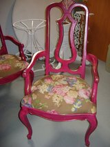 4 vintage ruby red FRENCH chairs in Westmont, Illinois