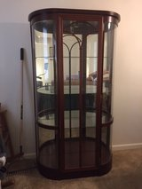 Curio Cabinet Cherry Wood in Fort Meade, Maryland