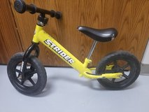 FREE! Used Strider Balance Bike Bicycle 2-4 years old Smallest size in Bolingbrook, Illinois