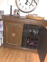 wood Bar or tall buffet with storage in Naperville, Illinois