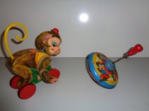 1950's Fisher Price chatter monk pull toy in Tinley Park, Illinois