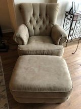 Brown Microfiber Chair and Ottoman in Bartlett, Illinois