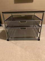 Cart with sliding mesh shelves in Naperville, Illinois