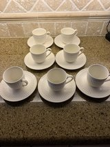 Mikasa 7 Pcs cup and saucer set in bone in Naperville, Illinois