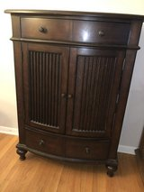 Tall wood dresser & matching nightstand in Naperville, Illinois