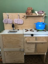 Recycled Wood Play Kitchen in Okinawa, Japan