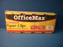 TWO SIZES OF OFFICE MAX PAPER CLIPS in Bartlett, Illinois