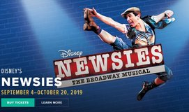 (2) tickets to Newsies, Aurora Paramount Theater, Sat 10/19 in Chicago, Illinois