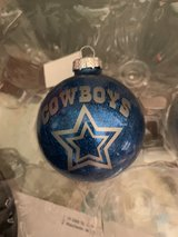 New Cowboys glass Christmas Ornament in Converse, Texas