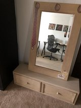 Bombay Company mirror & wall shelf with drawers in Naperville, Illinois