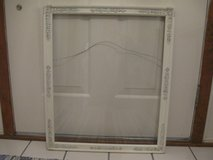 Cream Vintage Picture Frame with Glass in Bolingbrook, Illinois