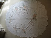 Nice Oval Cross Stitch Tablecloth #1-(Hand stitched with love) in Bolingbrook, Illinois