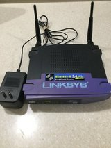 Wireless Router - Linksys Wireless-G 2.4 GHz w/ Power Cord - 4 Ethernet Ports. in Bolingbrook, Illinois