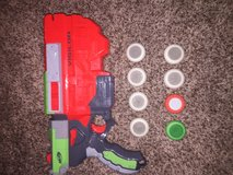 Nerf disk gun with extra bullets in Camp Pendleton, California