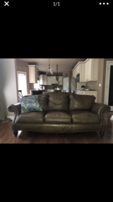 Bernhardt Leather Couch in Oswego, Illinois