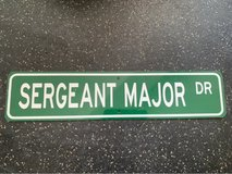 "Sergeant Major Dr. Street sign 18"" in Okinawa, Japan"