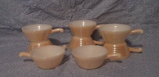 Vintage Fire King Bowls W/ Handles Peach Lustre in Kingwood, Texas