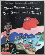 There Was an Old Lady Who Swallowed a Trout Paperback in Okinawa, Japan