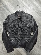 Guess leather jacket size small in Yorkville, Illinois
