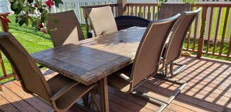 Outdoor table with 6 chairs. in Joliet, Illinois