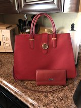 Red leather Purse with wallet in Chicago, Illinois