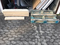 Pallet and wood in Stuttgart, GE