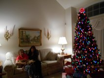 7 1/2 Foot multicolored staylit Christmas Tree in Bolingbrook, Illinois