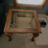 2 Glass top End Tables in Algonquin, Illinois