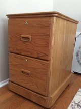 Solid Oak File Cabinet in Bolingbrook, Illinois