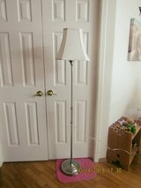 A really nice silver floor lamp that goes up and down new shade - in Alamogordo, New Mexico