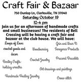 Craft bazaar in Fort Campbell, Kentucky