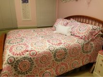 Queen Bed Frame - Cherry in Chicago, Illinois