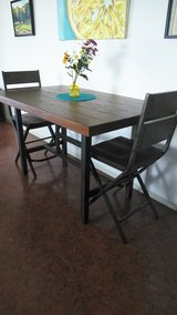 Wooden dining and end table for sale in Okinawa, Japan
