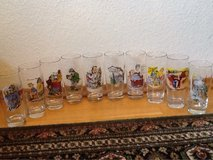 10 - Unique Funny Beer Glass Vintage - Double picture (one inside & one out) - Reduced in Ramstein, Germany