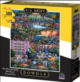 Dowdle US Army Folk Art 500pc Jigsaw Puzzle in Clarksville, Tennessee