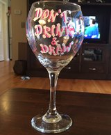 'Don't Drink & Draw' Wine Glass in St. Charles, Illinois