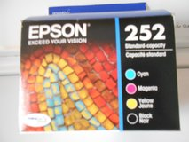Authentic EPSON 252 INK CARTRIDGES Cyan-Magenta-Yellow-Black in Naperville, Illinois